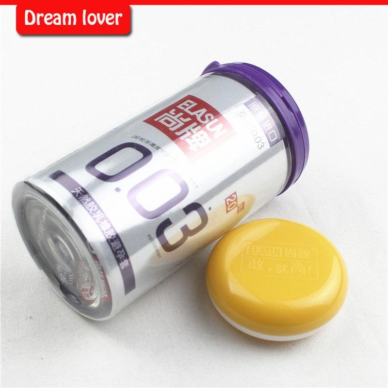 New packing Original Elasun 20 PCS Box 0 03 mm Platinum Ultra thin font b Condom