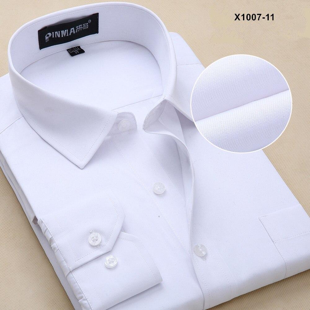 Новое поступление мужская одежда повседневные рубашки с длинными рукавами мужские рубашки с отложным воротником мужские рубашки однотонные рубашки для мужчин - Цвет: PM100711