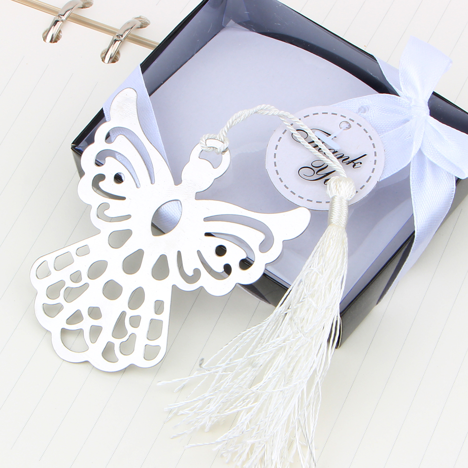 Papeleria Best Price Metal Bookmark Ribbon Tassel Angel Wedding Baby Shower Party Favors Gifts For Books