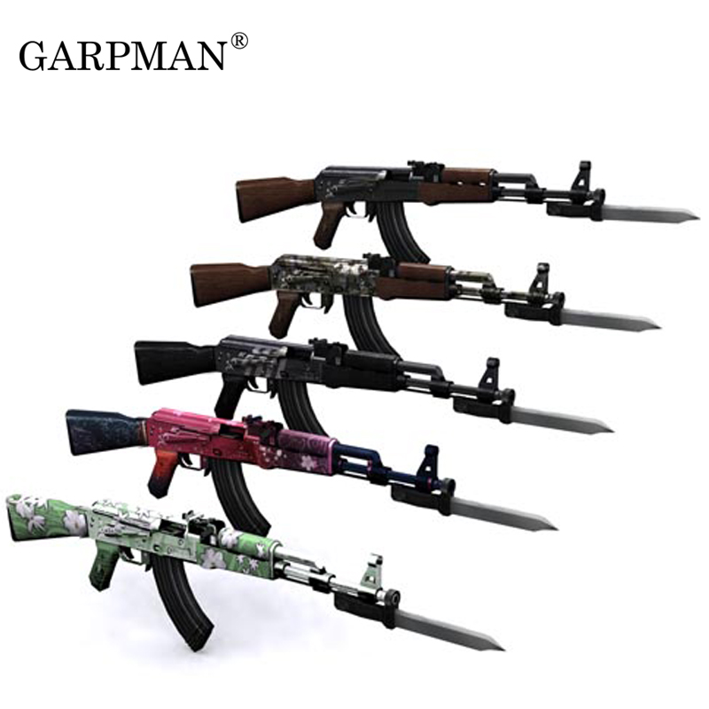 Paper Model Gun 1:1 Scale Ak 47 /3D Puzzle DIY Educational Toy  Simulation Toy Hand-made 5 Color To Choose Free Shipping