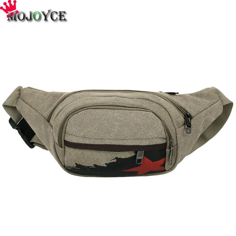 MOJOYCE Waist Pack Men Women Shoulder Crossbody Pack Chest Bag Belt Handbag Mobile Phone Bag Boy Canvas Casual Waist Bag ...