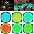 6 Colores Serie de Neón Fluorescente Luminosa Decoración de Uñas de Gel para Brillar en la Oscuridad Dropship