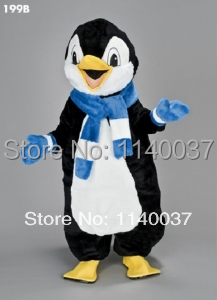 Mascotte mignon pingouin mascotte Costume peluche pingouin mascotte dessin animé personnage carnaval costume fantaisie Costume fête