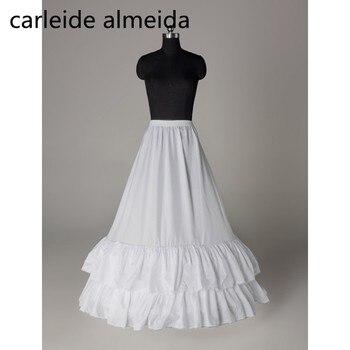 53a1c1292 JaneVini nuevo estilo vestido de boda sirena enaguas llevan Tul Blanco de  novia largo Petticoat boda ...