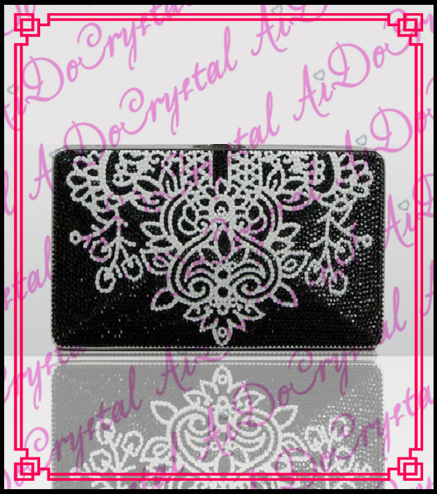 Aidocrystal totem pattern black color unique women s clutch handbag