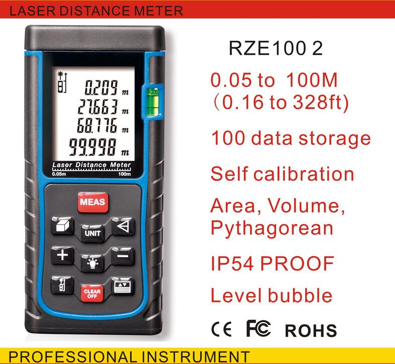 Free Shipping SNDWAY E100M(328ft) E100 -5 Laser distance meter with bubble level Rangefinder Range finder Tape measure free delivery level 24 in lightweight hard plastic 3 bubble triple ruler measure tool