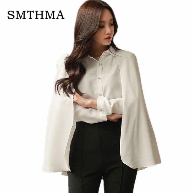 215626201995f Vestidos de Fiesta mujeres capa blusa Camisas Tops elegante blanco  protector solar capa Tops moda