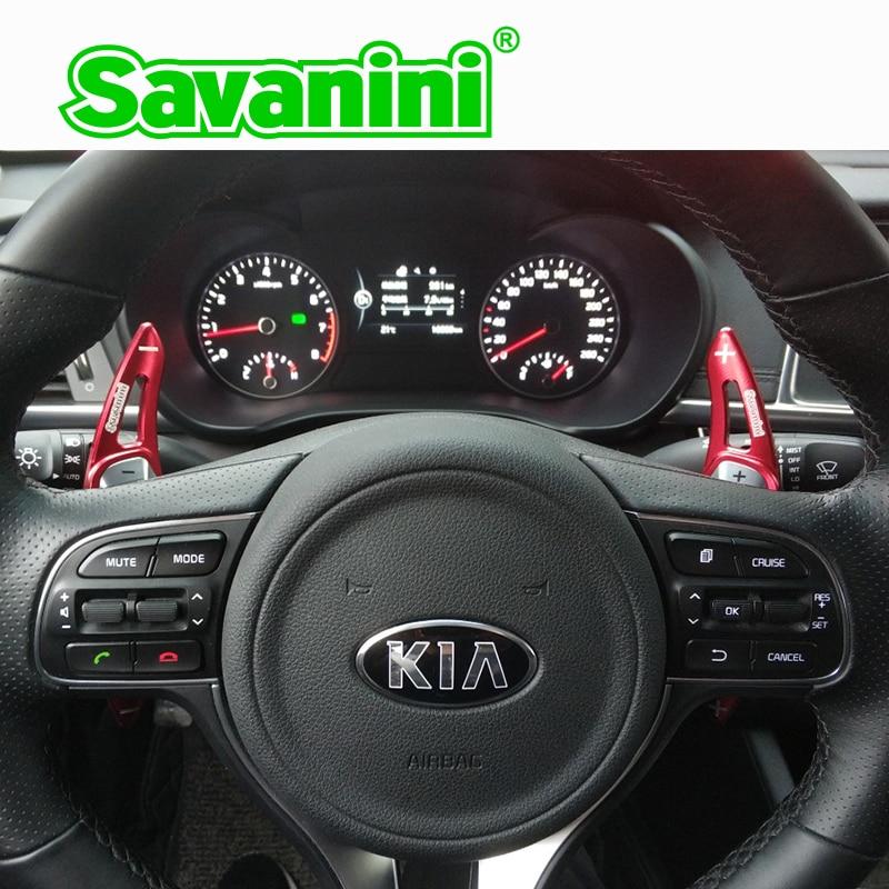 Savanini Aluminum Steering Wheel DSG Shift Paddle Shifter Extension For Kia K5 Optima 2016 2018 Sorento