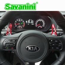 Savanini الألومنيوم عجلة القيادة DSG التحول مجداف شيفتر تمديد لكيا K5 أوبتيما (2016) سورينتو 2016 كيا نيرو ev