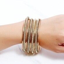 7pcs/set Women gold Bracelet Set Fashion Gold Bangle