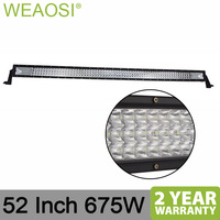 High power new item 2 years warranty 52 Inch 675W 4x4 offroad LED light bar for JEEP truck SUV ATV