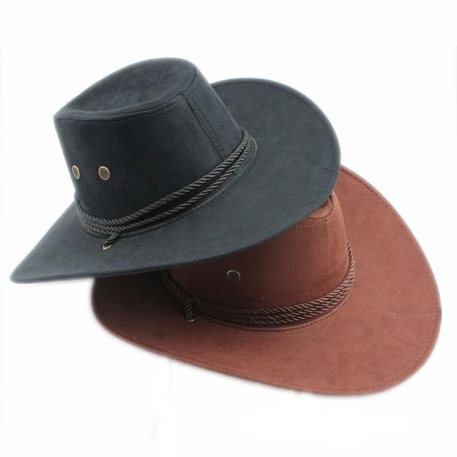 32f57b87384dc Men Women Bull Rider Winding fedora hat Cappelli Jazz Felt Floppy Ribbon  Band Wide Brim Western Hat Sunhat Panama Hat 7