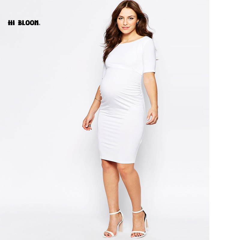 Maternity Clothes Elegant Evening Dresses For Pregnant Women Loose Pregnancy Vestidos Maternity White Party Prom Dress