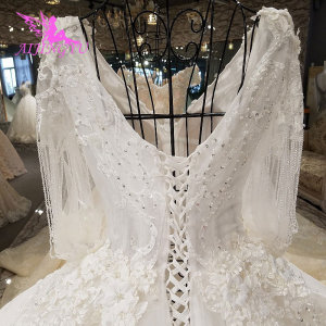 Image 5 - AIJINGYU Long Sleeve Wedding Dress engagement Sleeve Gowns Supplies Store With Sleeves Vintage Lace Gown For Sale Wedding Luxury