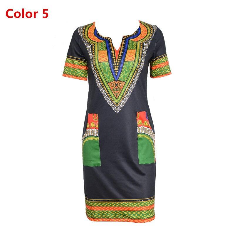 c79e05dc0b Dashiki dress 2017 Summer Sexy African Print Shirt Dresses Femme ...