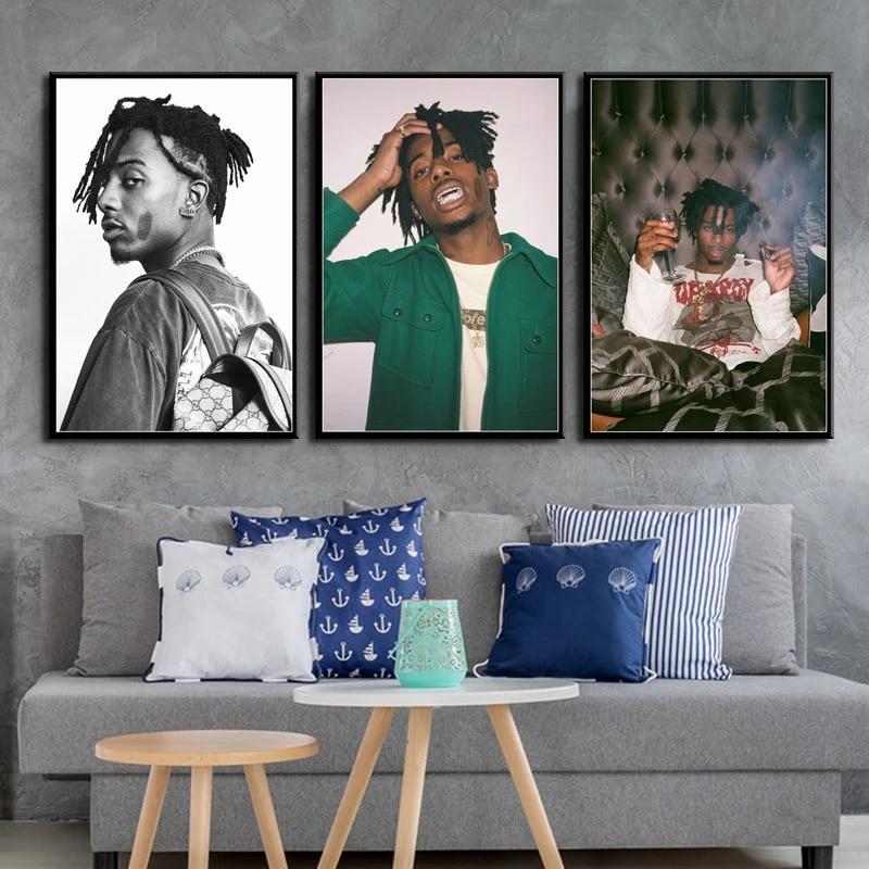 Playboi Carti Poster on Canvas Hip Hop Rap Rapper Star Art Painting Silk Canvas