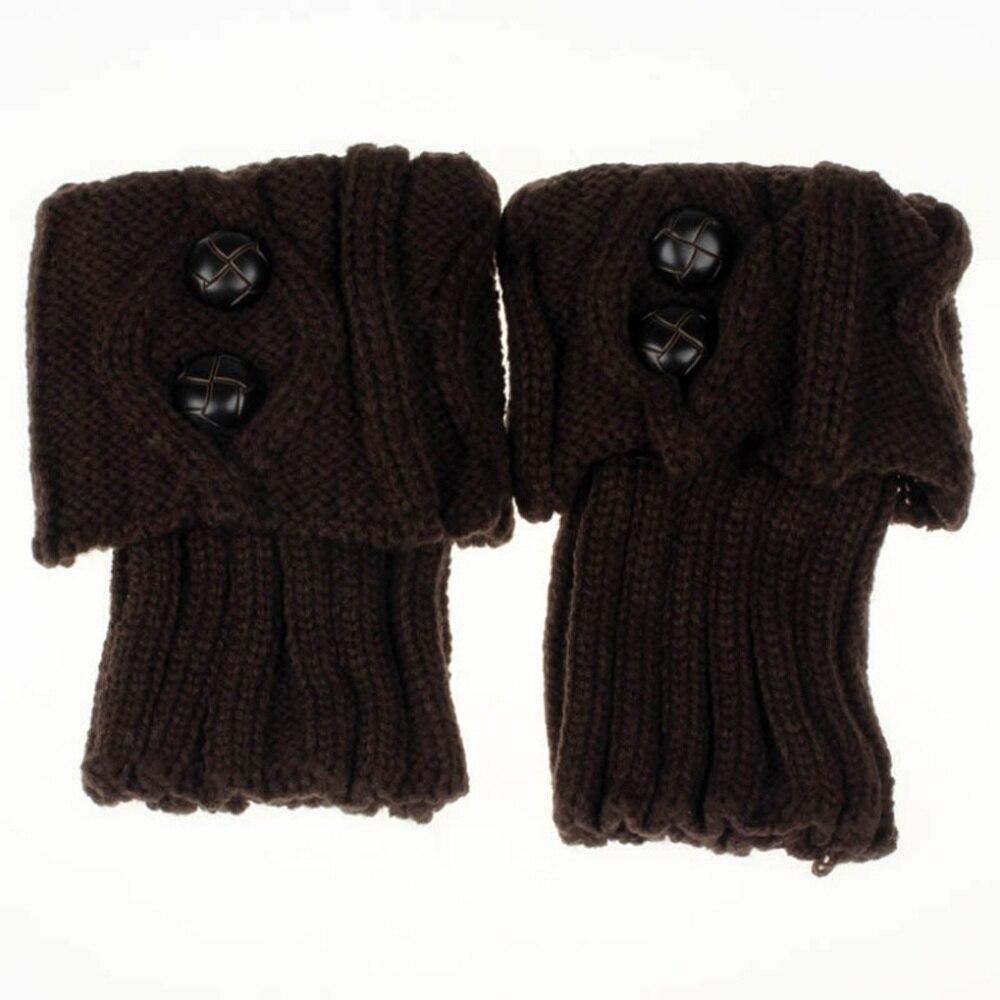 1 Paar 5 Kleuren Soft Fashion Vrouwen Lady Winter Warm Haak Gebreide Button Laars Sokken Been Warmer Leggings Met Een Langdurige Reputatie