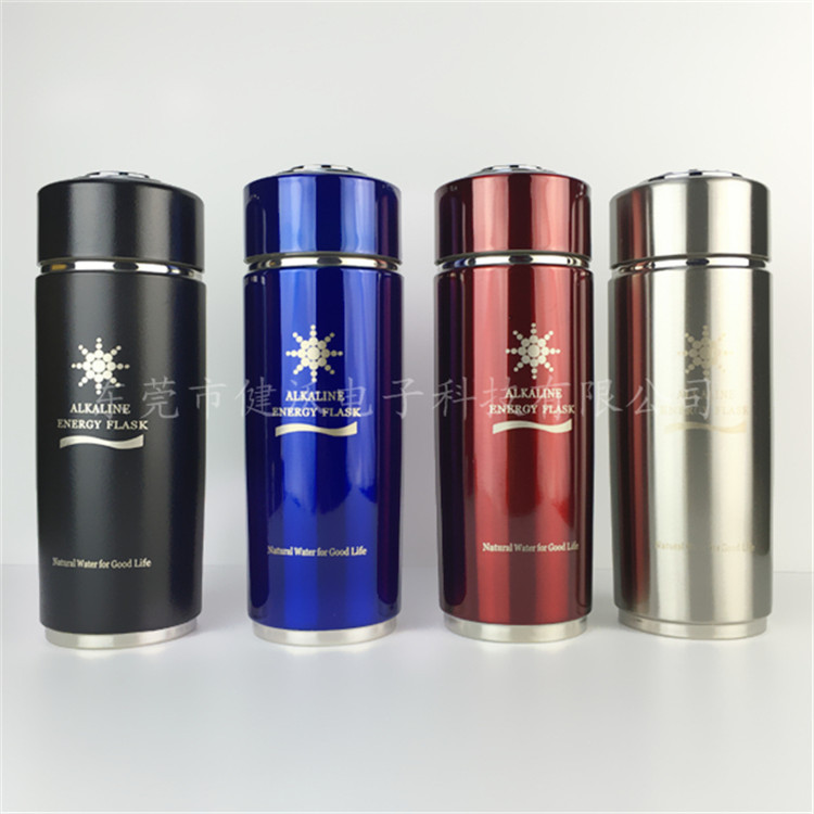 Alkaline Water Ionizer Bottles 400ml Hydrogen Negative Water Flask Health Care Nano Energy Cup With Replaceable Filter Carry Bag