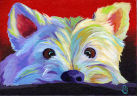 Framed diy digital Oil Painting On Canvas Living Room Home Decor Wall Painting by numbers westie dog