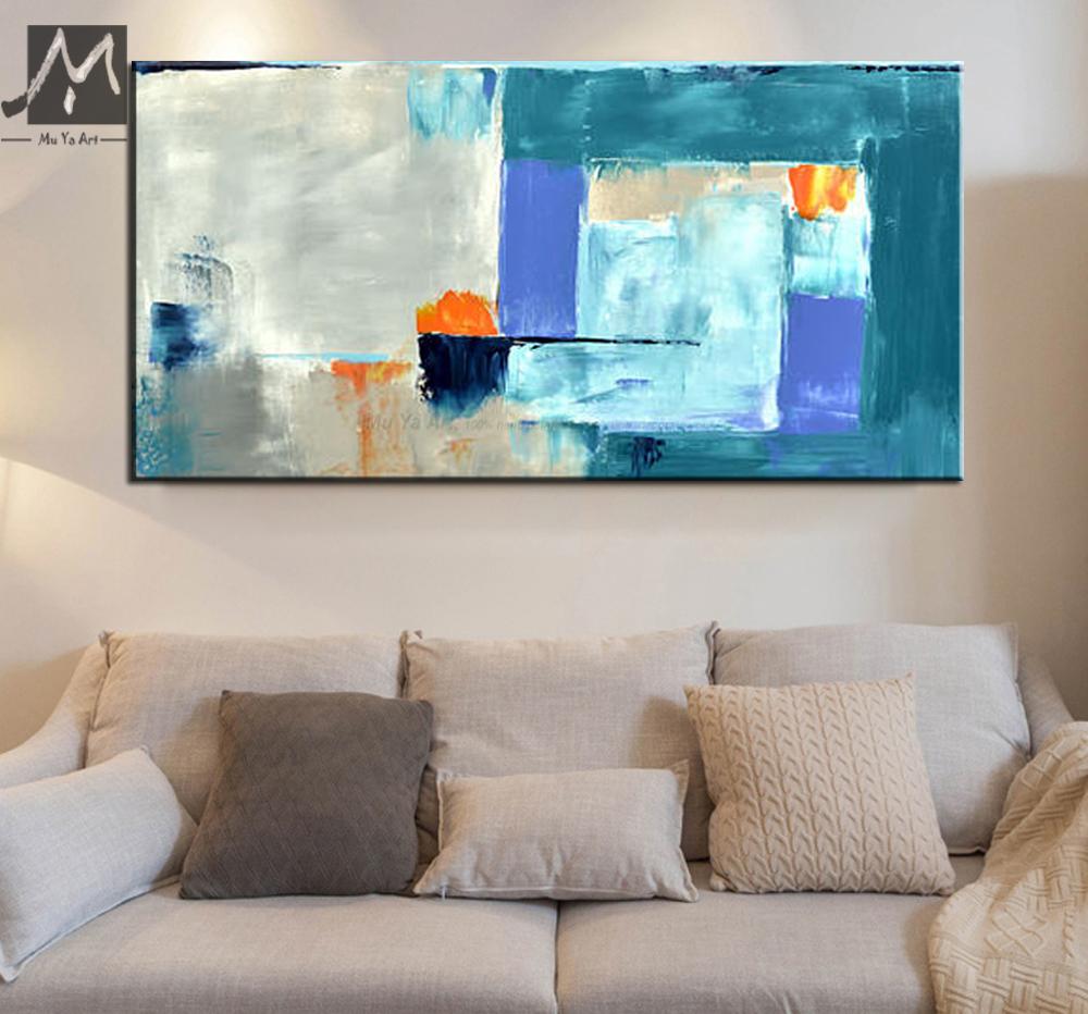 MUYA moderne leinwand gemälde abstrakte ölgemälde wand bilder acryl ...