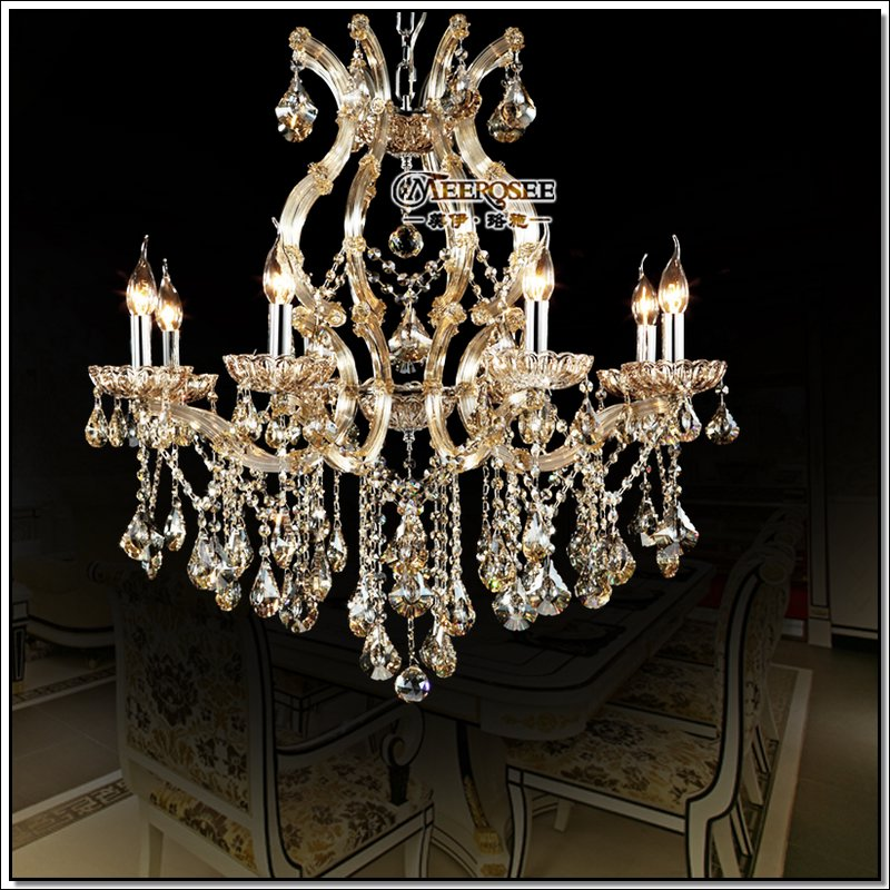 Incandescent Luminaire Suitable For Led Bulb Antique Hanging Lamp Crystal Chandelier Meerosee Chrystal Light Fixture Bedroom In Chandeliers From Lights