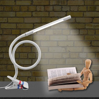 360 Degree LED Clip Lamp Touch Sensor Eye Protection Students USB Table Lamps With Clip Folding
