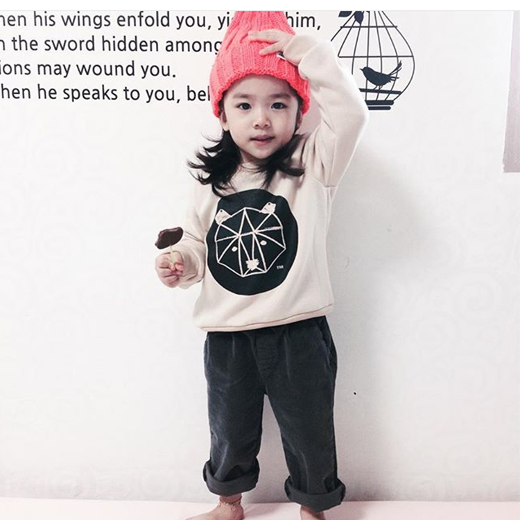 2016 autumn bobo choses nununu baby girls clothing baby boys clothing kids hoodies cartoon vetement enfant kikikids baby tops