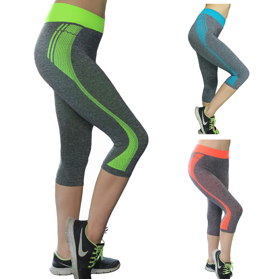Aocessen Sports pants gym leggings seven Yoga Pants ...