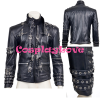 New Custom Made High Quality America Corium Michael Jackson Jacket Coay Cosplay Costume For Halloween