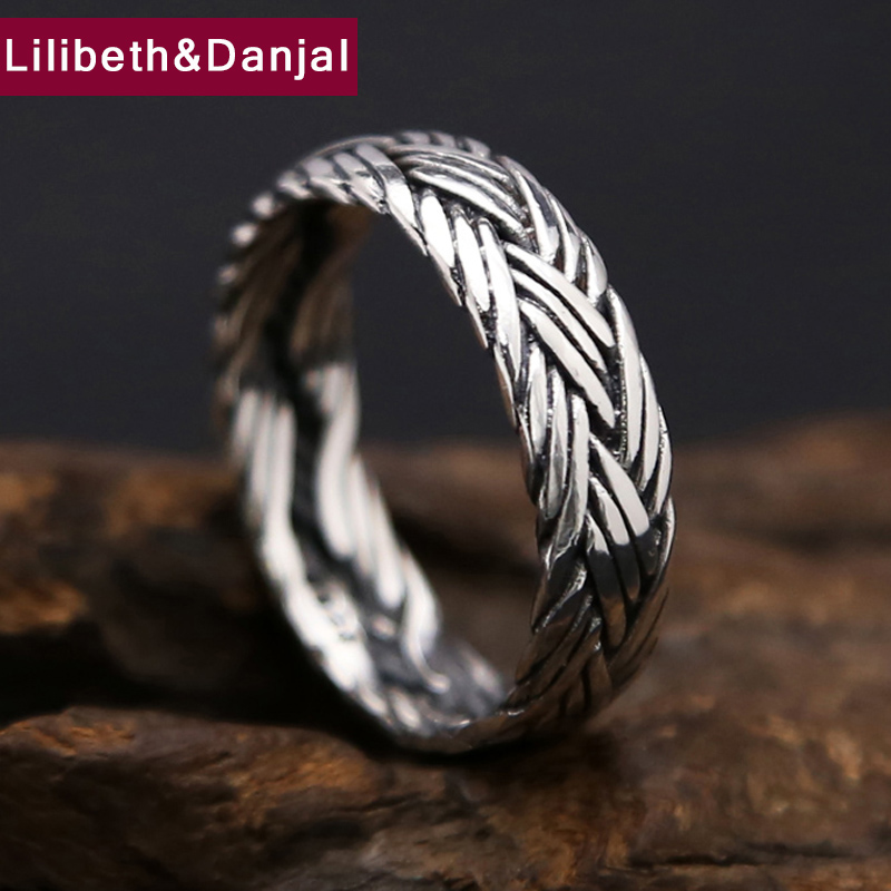 Customisable Stainless Steel Black Crab Tribal Pattern Band Ring Your Message Engraved Free So Chic Jewels