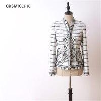 Kadın Ceket Yün Tüvit Uzun Kollu Çizgili Ceket Vestido Retro Saray Ofis Lady Ceketler LY172 Giymek