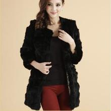 leather coat 2014spring the new female rabbit   real  fur coat of short  fur couture