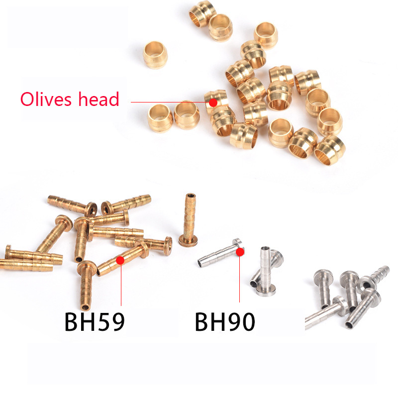 CYCEARTH Bicycle Brake Olive and Brass Connecting Insert Kit for Shimano BH59 BH90 Avid Sram Magura Bike Hydraulic Disc Brake Hose