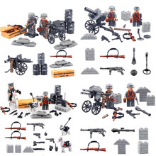 WW2 Lightning Raid Military With Many Weapons gun Soldier Set Army Toys Building Blocks Set Compatible