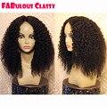 130 Плотность Бразильский Девственные Волосы Афро Кудрявый Вьющиеся Парики Человеческих вьющиеся Кружева Перед Парик Бразильский Вьющиеся Волосы Девственные Парик Бесплатно доставка