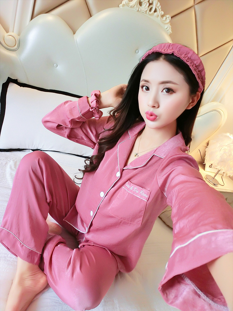 Queenral Women Silk Pajamas 7pcs Sets Pyjamas Set Women Underwear Home Clothes Sexy Pajamas For Women Night Suit Sleepwear  4