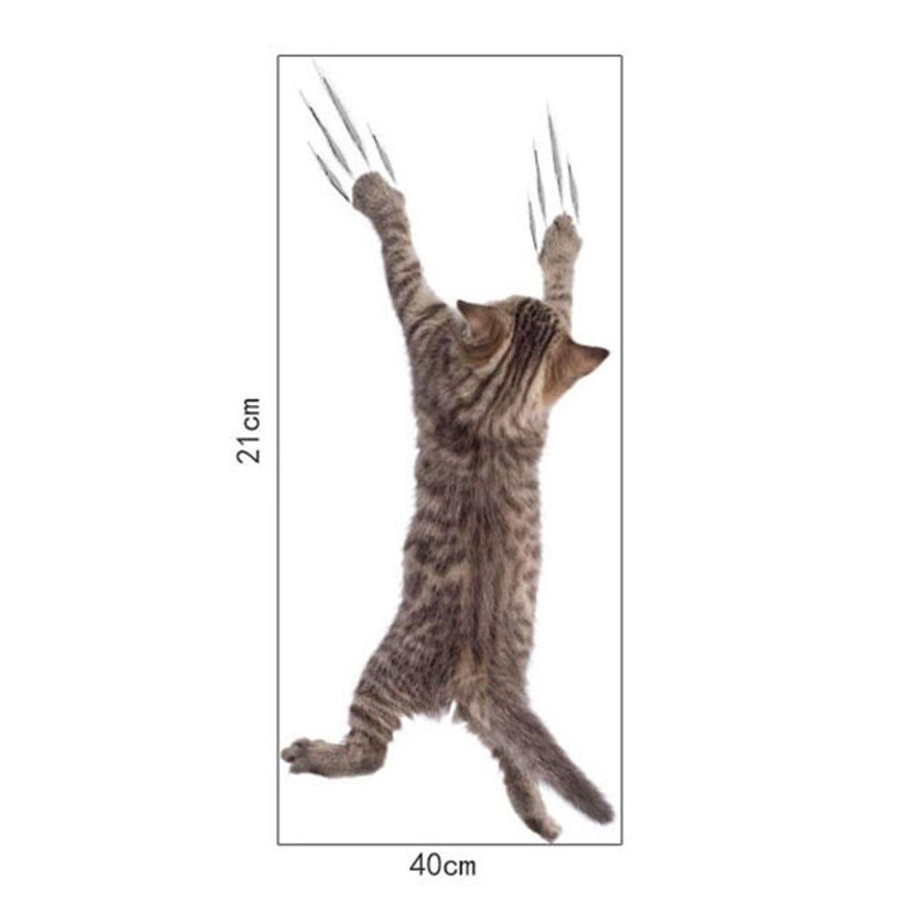 """1 шт. 3D милые наклейки """"сделай сам"""" с котом, наклейки на стену для всей семьи, украшения для окна, комнаты, ванной комнаты, унитаза, декоративные кухонные аксессуары - Цвет: 21 x 40 cm-21"""