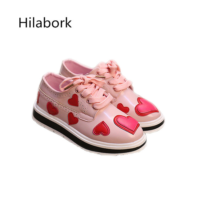 Kids shoes ultra-fiber girls leather shoes 2017 spring new girl shoes fashion side zipper muffin end of love toddler girl shoes