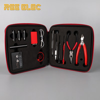 Electronic Cigarette Accessories Kit For RDA RTA Atomizer Ceramic Tweezers Coil Jig Plier Screw Heating Wire