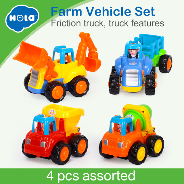 HOLA 326 Baby Toy Truck Vehicle Pull Back Car Model Children Playing Toys Beach Sand Tools with Original Box