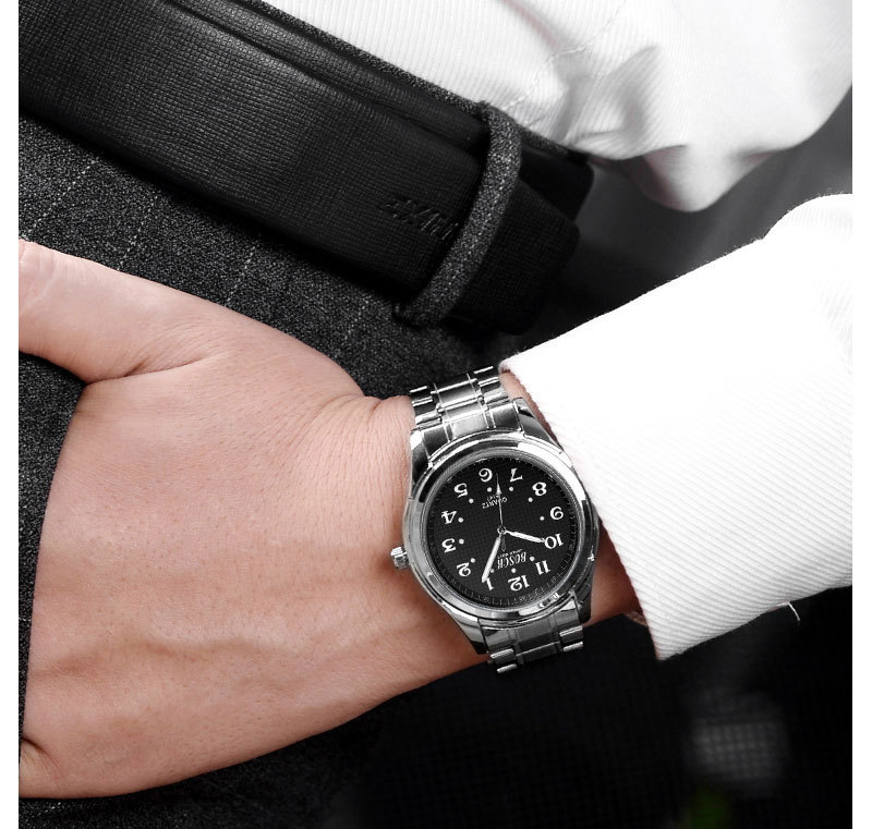 Mens Watches Top Brand Luxury Stainless Steel Band Black Quartz Watch Male Erkek Kol Saati Military Wrist Watch erkek kol saati yazole 2018 fashion quartz watch men watches top brand luxury male clock business mens wrist watch ceasuri erkek kol saati