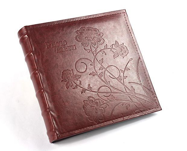High Capacity Pu Leather Embossing Flower Cover Holds 200