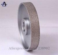110mm*19mm*20mm Vacuum Brazed Diamond FLAT Wheel / Stone Edging Wheel especially For Resin Glass etc