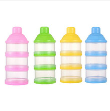 New Portable Baby Infant Feeding Milk Powder &Food Bottle Container 3 Cells Grid Box