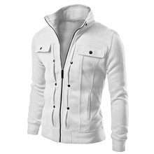 4 Colors 2017 Hot Autumn Mens Fashion Slim Fit Hoodies Sweatshirt Sportswear Male Casual Hood Jacket Tracksuit Size L-XXL