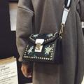 Bailar nova tendência de luxo mulheres bolsa de couro retro saco Do Mensageiro Do ombro de alta qualidade lady flap saco de marcas famosas