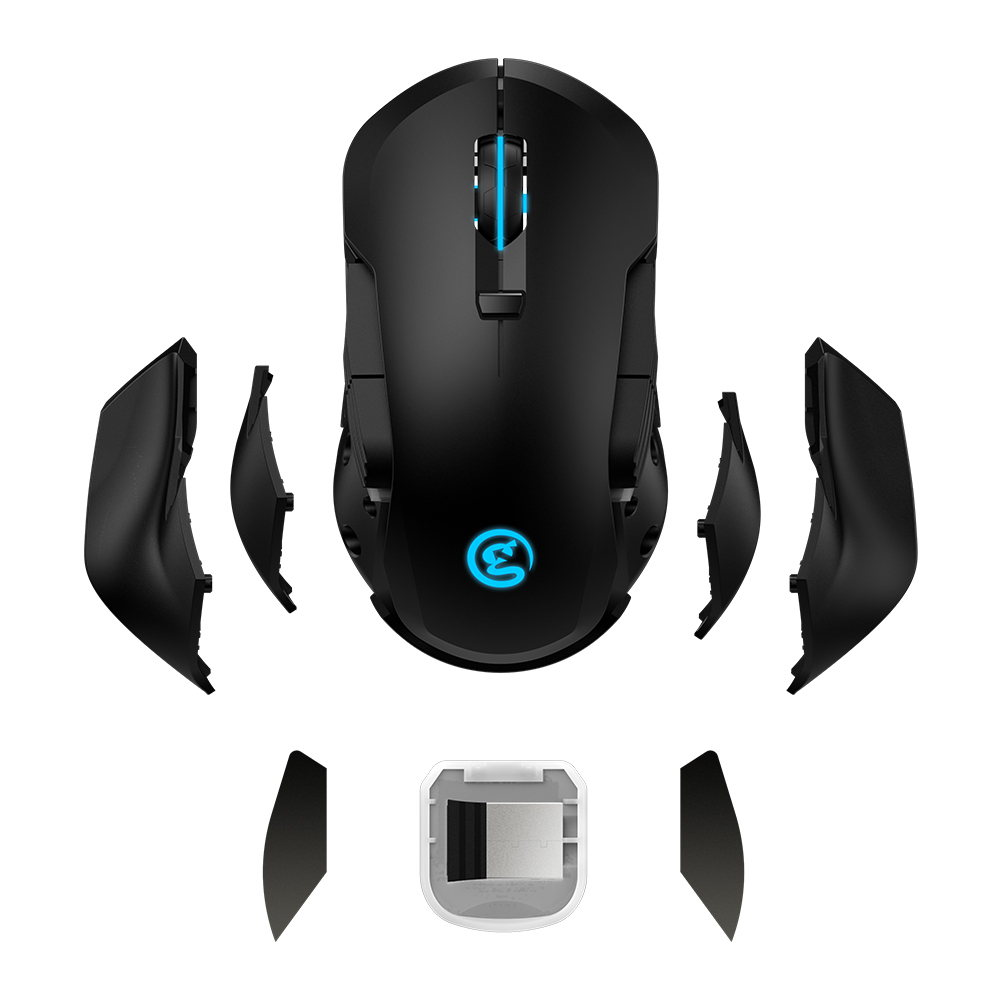 GameSir GM300 Detachable Wireless Gaming Mouse 16 000 DPI RGB Color High Precision Speed Game Mouse