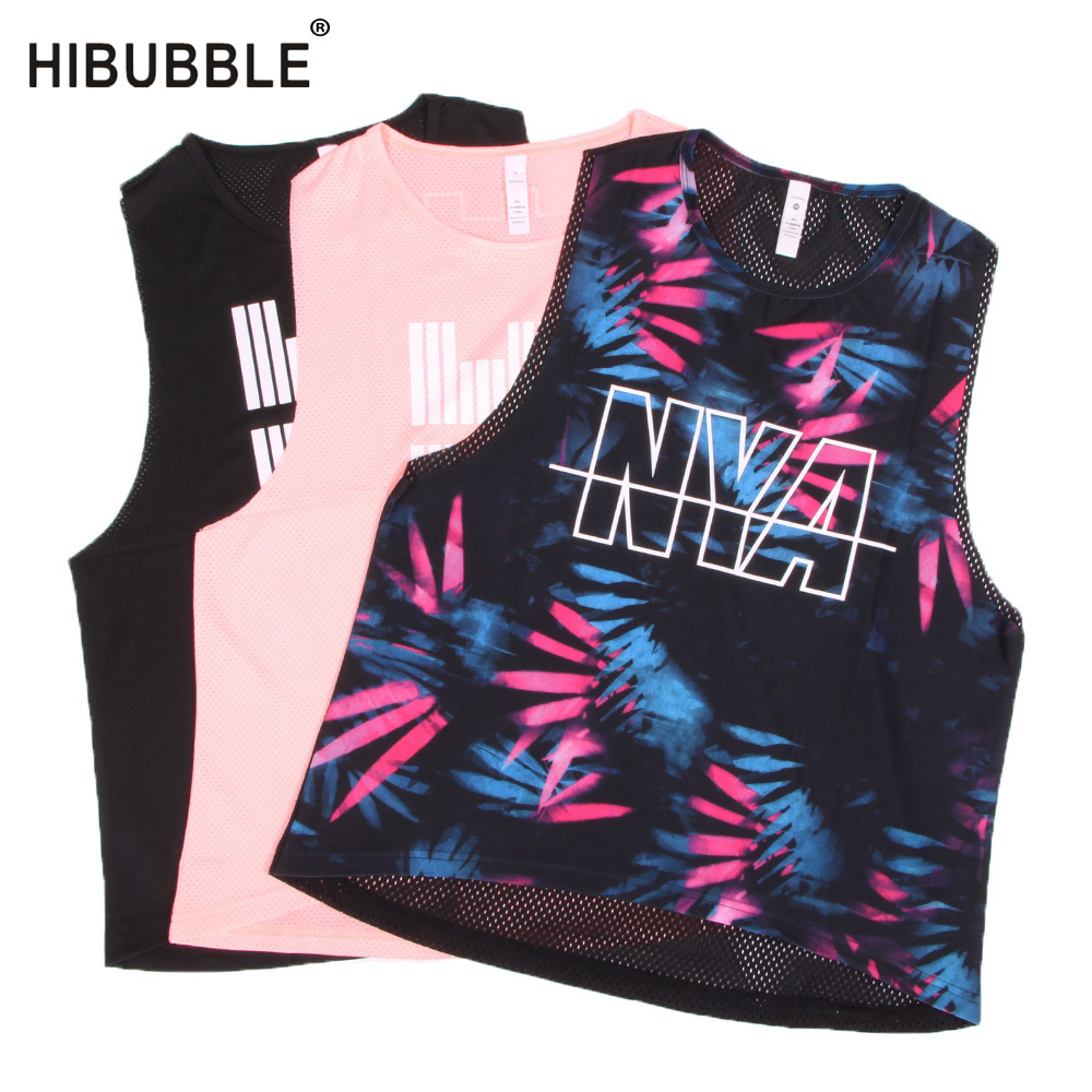 Hibubble Back Mesh Sports Top Printing Top Sport Top -8687