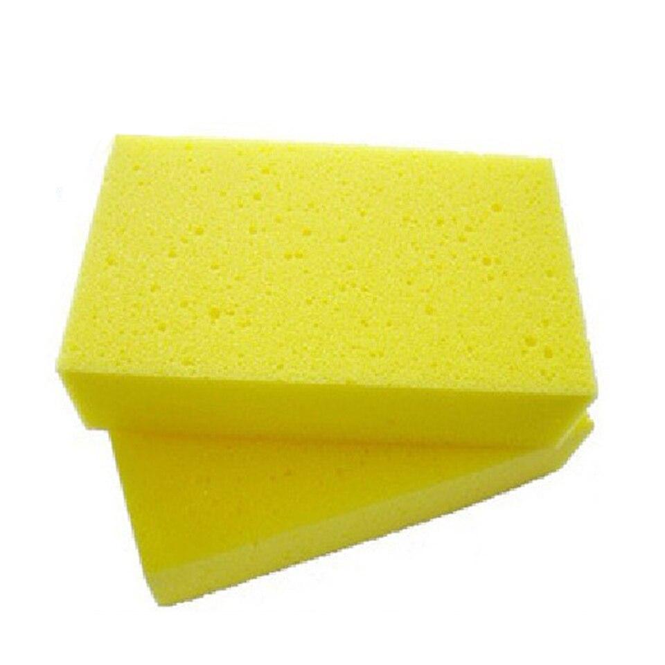 Good Quality Promotional Car Sponge Car Wash Supplies Tools Yellow Scrub Pad MX-05726 5pcs/Lot Whole Sale