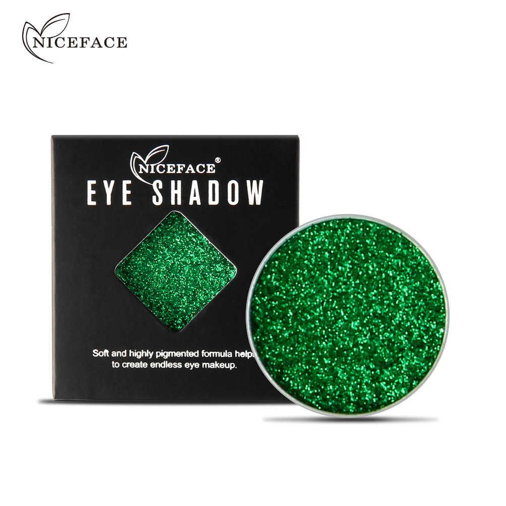 NICEFACE profesjonalne Powder cień do powiek Metal diament Eyeshadow kosmetyki puder prasowany Pigment długotrwały Maquiagem